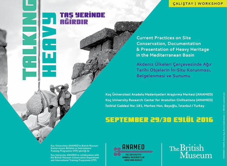 ANAMED'te 29 Eylül Tarihinde 'Taş Yerinde Ağırdır' Çalıştayı Yapılacak