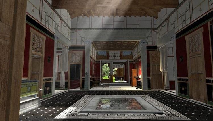 Pompeii'li Bankerin Evi Dijital Ortamda Tekrar Canlandırıldı