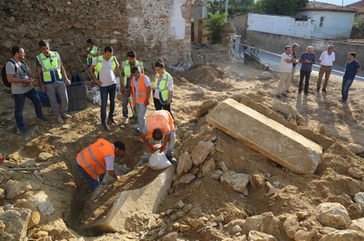 Muğla'daki İnşaat Çalışmalarında Helenistik Dönem Lahiti Bulundu