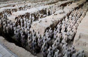 Terakota ordusunu antik yunan heykeltraşlar yaptı