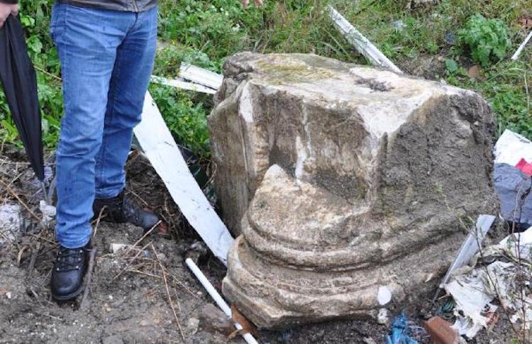 Bartın'da Hafriyat Dökülen Alanda Tarihi Eserler Bulundu
