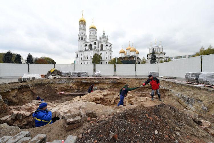 Kazılar Kremlin'in Orta Çağı Hakkında Yeni Bilgi Veriyor