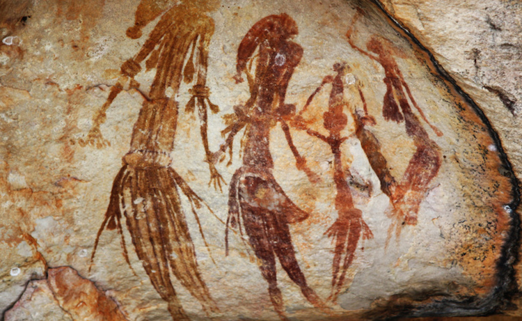 Bradshaw kaya resimleri Aborjinlere bilgileri hafızalarına kaydetmeleri için yardımcı oluyor. /Wikipedia