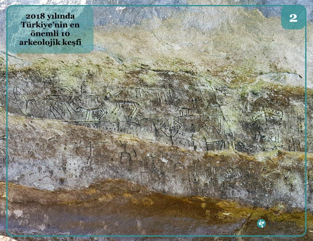 Atatürk Barajı'nda bulunan kaya çizimleri
