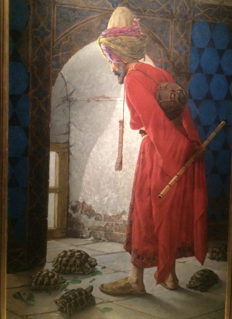 Kaplumbağa Terbiyecisi Tablosu (Pera Müzesi)