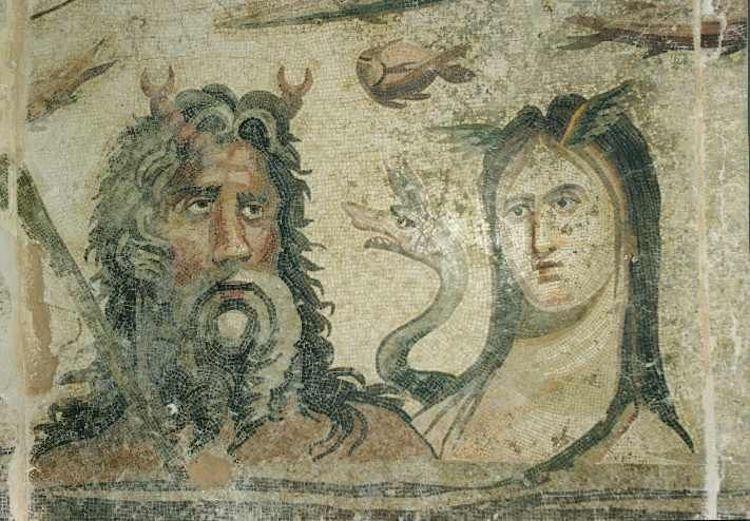 Tethys ve Oceanus mozaiği (Zeugma Mozaik Müzesi)